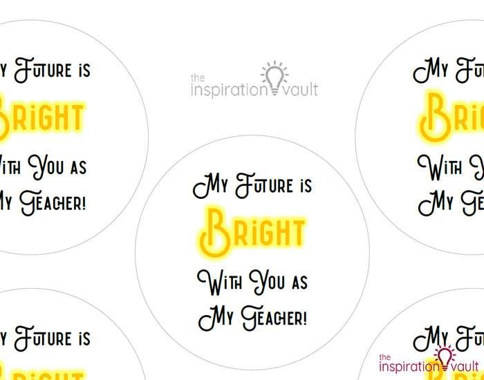 Light Bulb Teacher Gift Step 1a
