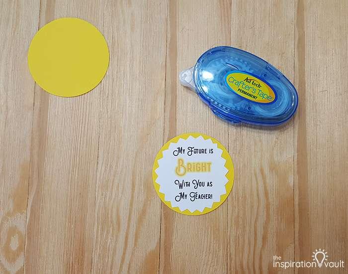 Light Bulb Teacher Gift Step 4b