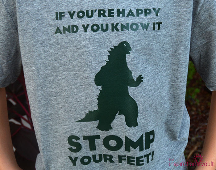 Happy Godzilla T-shirt Complete