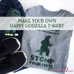 Make Your Own Happy Godzilla T-shirt