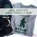 Make Your Own Happy Godzilla T-shirt