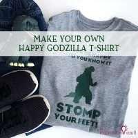 Happy Godzilla T-shirt Feature