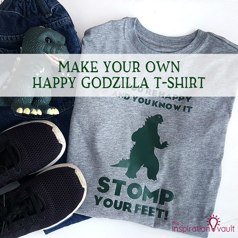 Happy Godzilla T-shirt Feature