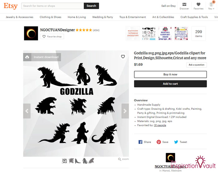 Happy Godzilla T-shirt Step 1a