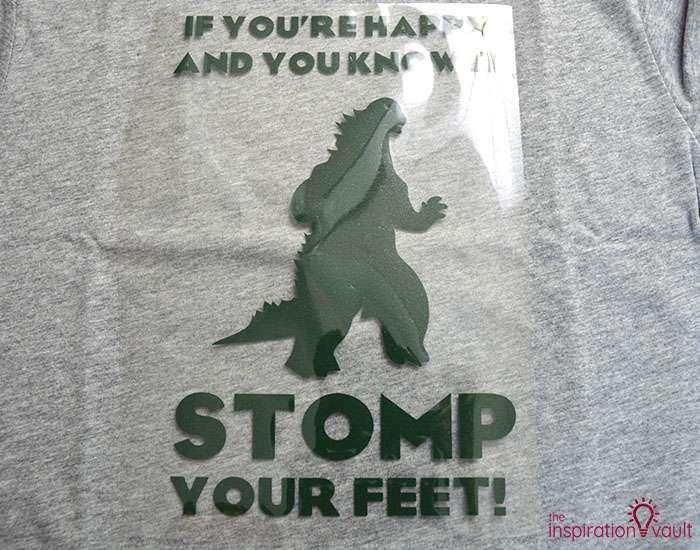 Happy Godzilla T-shirt Step 7b