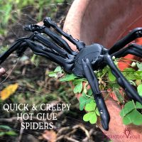 Hot Glue Spiders Feature