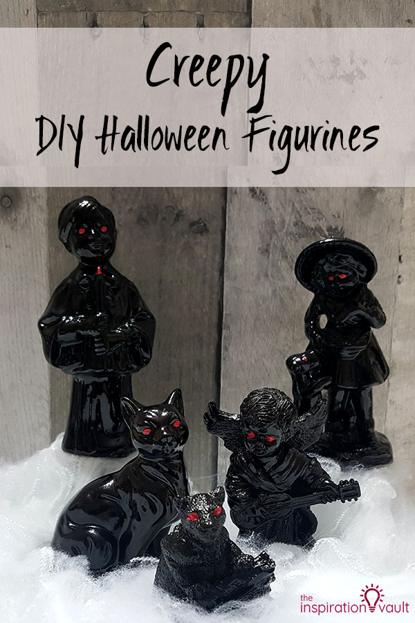 Creepy DIY Halloween Figurines Craft Tutorial from Thrift Store Finds