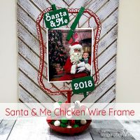 Santa & Me Chicken Wire Frame Feature