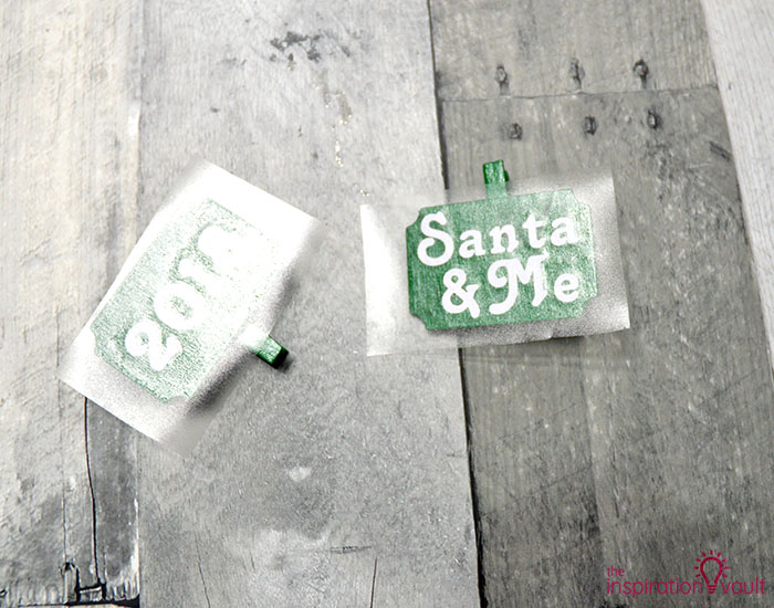 Santa & Me Chicken Wire Frame Step 6a