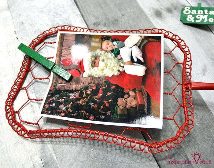 Santa & Me Chicken Wire Frame Step 7