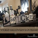 Wicked Halloween Sign Rehab