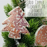 Add Copper Accents to Ceramic Ornaments Feature