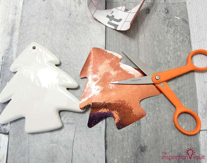 Add Copper Accents to Ceramic Ornaments Step 5c