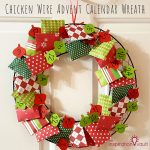 Chicken Wire Advent Calendar Wreath