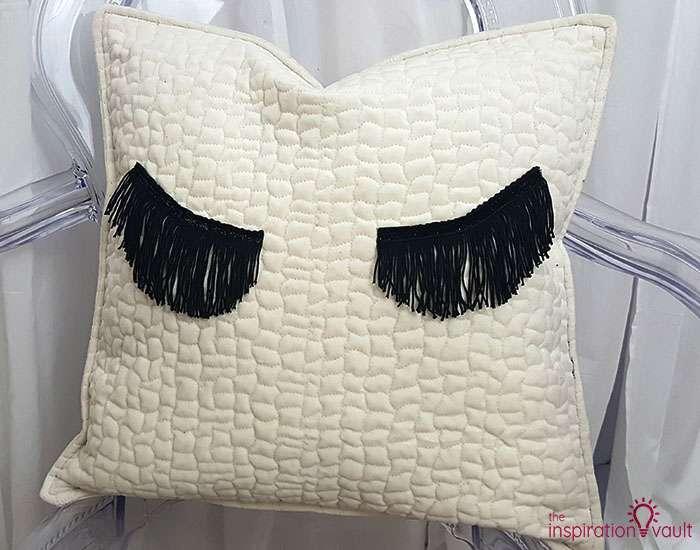 DIY Velvet Eyelash Pillow Complete