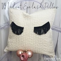 DIY Velvet Eyelash Pillow Feature 2
