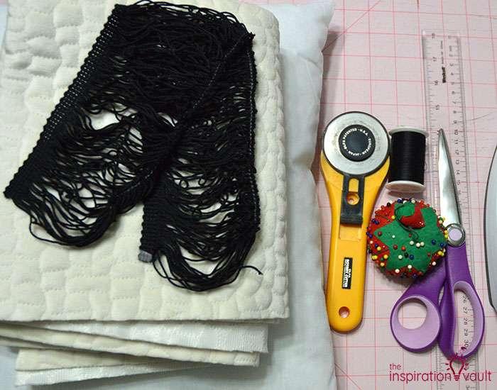 DIY Velvet Eyelash Pillow Materials