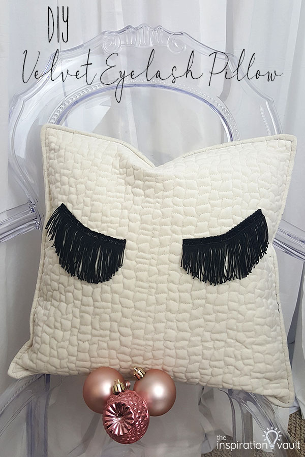 DIY Velvet Eyelash Pillow Sewing Craft Tutorial using Fringe