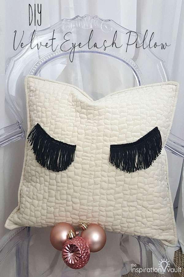 DIY Velvet Eyelash Pillow Sewing Craft Tutorial using Fringe
