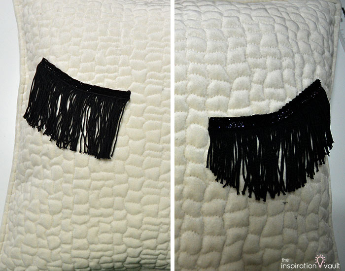 DIY Velvet Eyelash Pillow Step 13