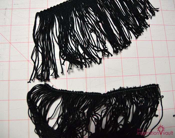 DIY Velvet Eyelash Pillow Step 3