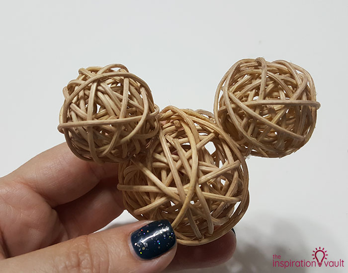Dollar Tree Rustic Mickey Ears Ornament Step 2c