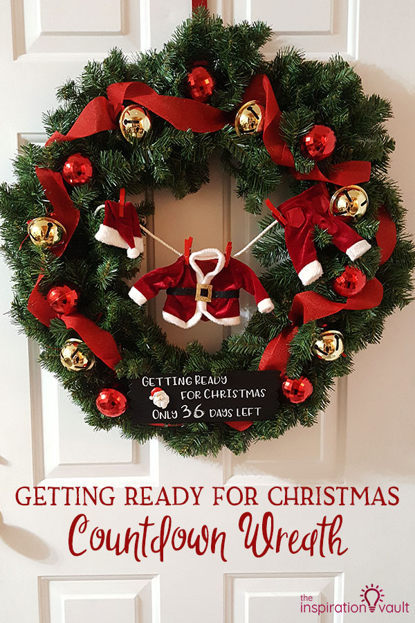 Getting Ready for Christmas Countdown Wreath DIY Craft Tutorial with Santa's Laundry