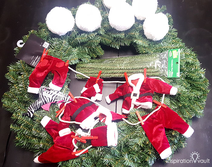 Getting Ready for Christmas Countdown Wreath Materials 1