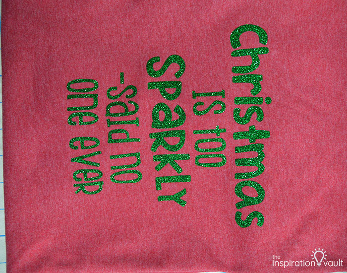 Make Christmas T-shirts with Cricut Complete