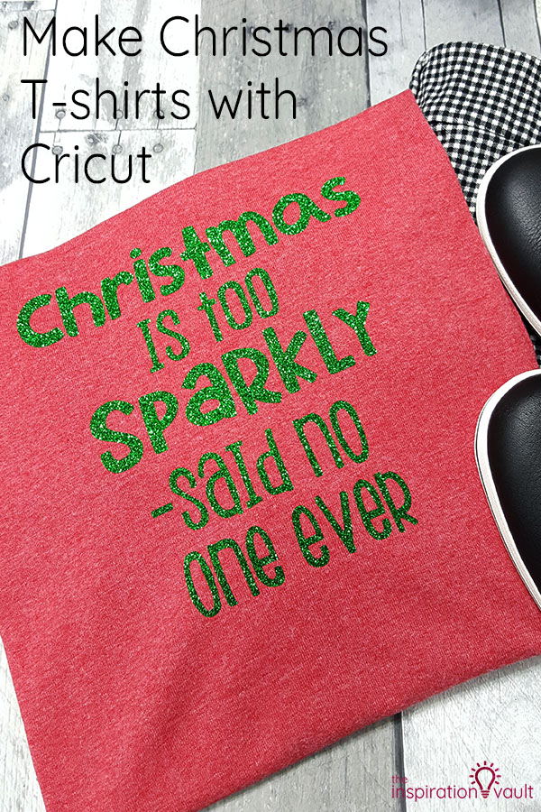 Make Christmas T-shirts with Cricut DIY Craft Tutorial using EasyPress