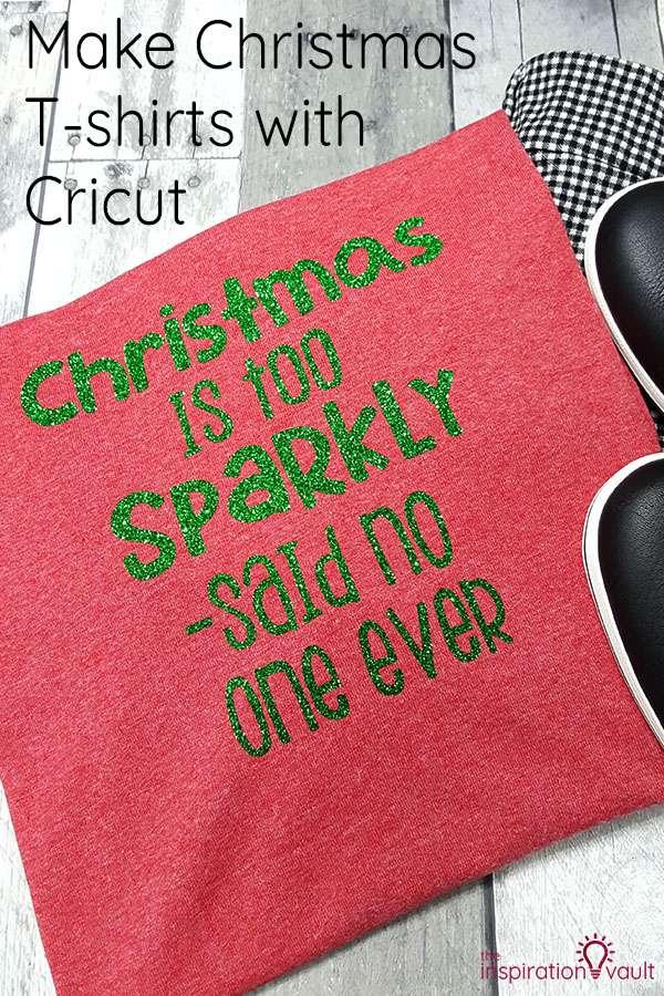 Make Christmas T-shirts with Cricut DIY Craft Tutorial using EasyPress