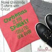 Make Christmas T-shirts with Cricut Feature