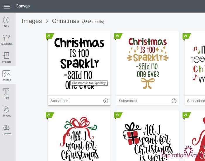 Make Christmas T-shirts with Cricut Step 1a