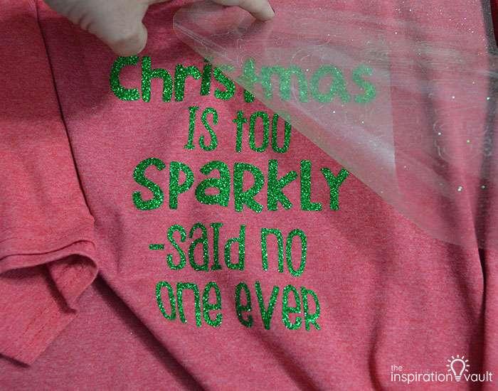Make Christmas T-shirts with Cricut Step 6c
