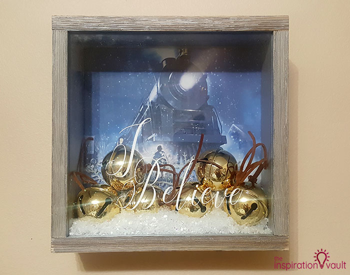 Polar Express Sleigh Bells Shadow Box Complete
