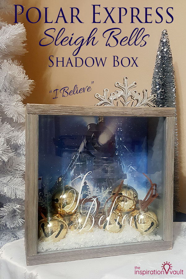 Polar Express Sleigh Bells Shadow Box DIY Cricut Craft Tutorial