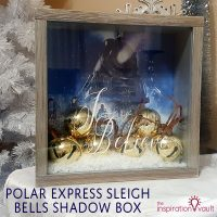 Polar Express Sleigh Bells Shadow Box Feature