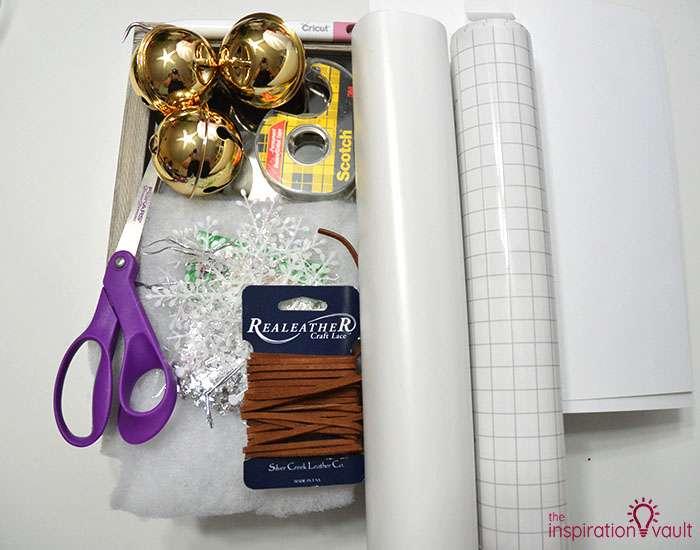 Polar Express Sleigh Bells Shadow Box Materials