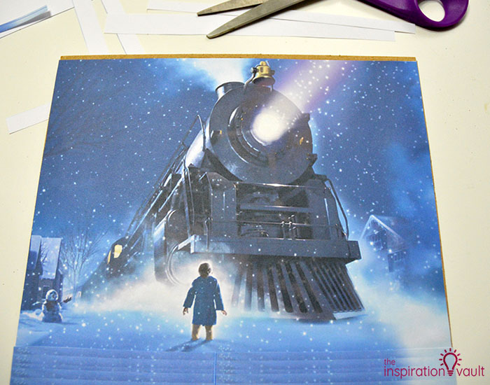 Polar Express Sleigh Bells Shadow Box Step 4