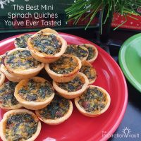 The Best Mini Spinach Quiches You've Ever Tasted Feature