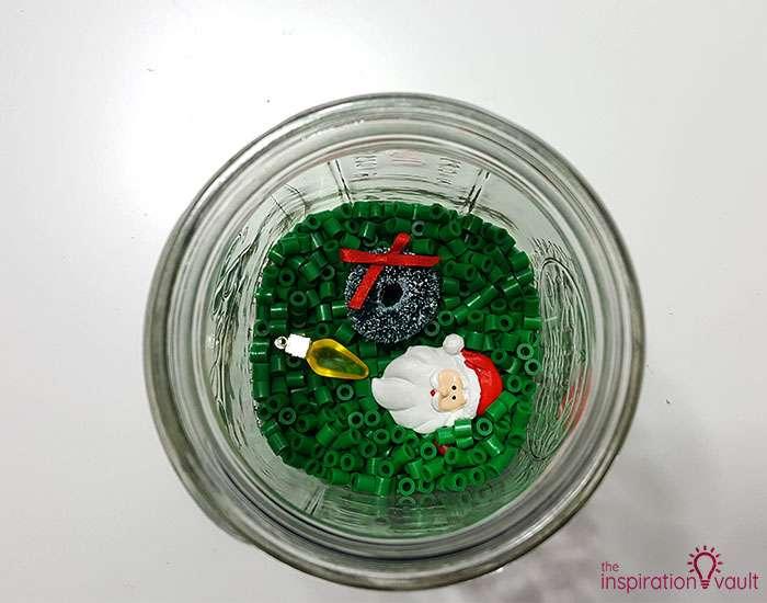 DIY I Spy Christmas in a Jar Step 2b