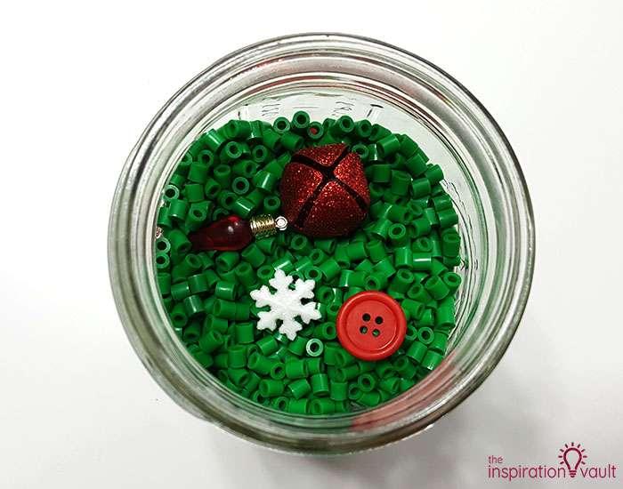DIY I Spy Christmas in a Jar Step 3b