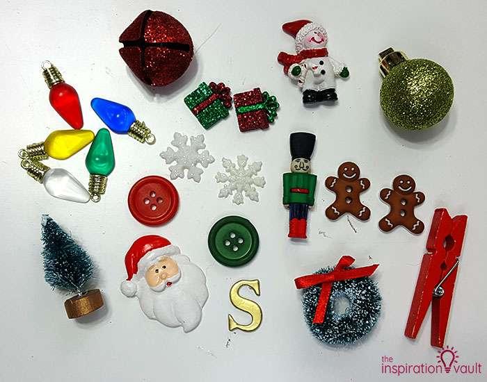DIY I Spy Christmas in a Jar Step 1