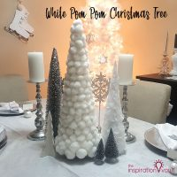 White Pom Pom Christmas Tree Feature