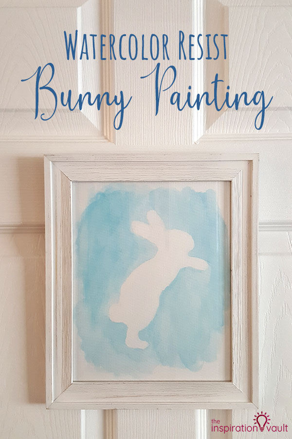 Watercolor Resist Bunny Painting DIY Craft Art Tutorial Using Watercolor Paint and Masking Fluid V2