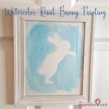Watercolor Resist Bunny Painting