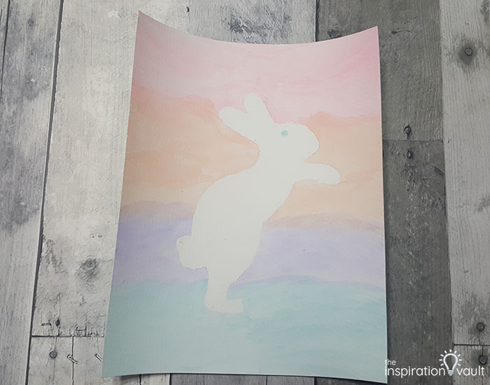 Watercolor Resist Bunny Painting Step 4a