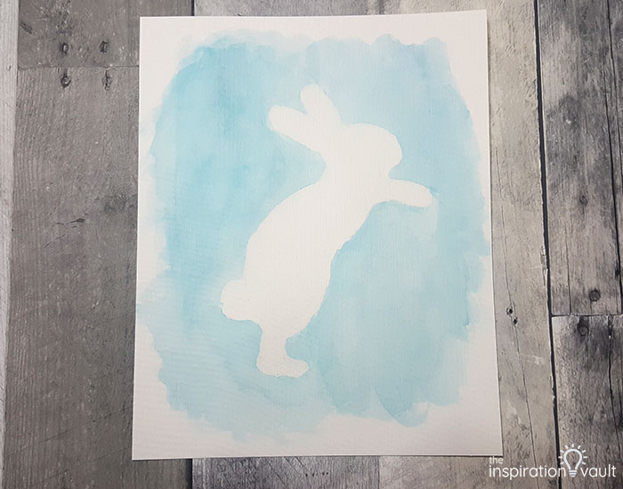 Watercolor Resist Bunny Painting Step 5b