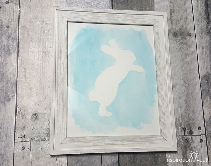 Watercolor Resist Bunny Painting Step 6