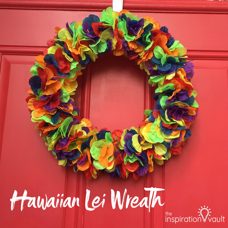 Hawaiian Lei Wreath Feature
